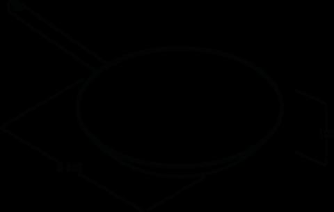 BORA Dunstabzug - HIW1 Induktions-Wok-Pfanne - Technische Zeichnung